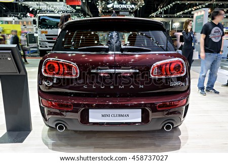 NONTHABURI, THAILAND - DECEMBER 1: The Mini Clubman is on display at the 32nd Thailand International Motor Expo 2015 on December 1, 2015 in Nonthaburi, Thailand.