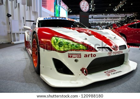 Nice NONTHABURI, THAILAND   DECEMBER 1: Toyota Racing Car By Toyota Racing  Development (TRD