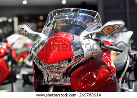 Nonthaburi,Thailand - March 24th, 2015: Honda super bike ,showed in Thailand the 36th Bangkok International Motor Show on 24 March 2015 - stock photo