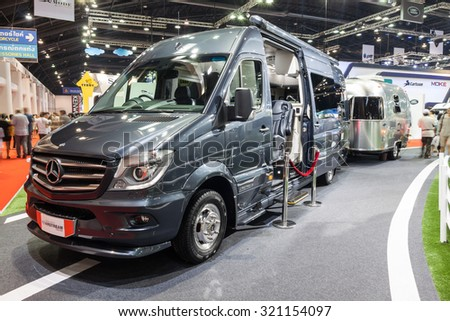 Nonthaburi,Thailand - March 26th, 2015: Mercedes-Benz  Airstream,showed in Thailand the 36th Bangkok International Motor Show on 26 March 2015