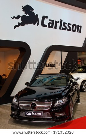 NONTHABURI, THAILAND - March 31: The Carlsson (BRG) on display at  Bangkok International Motor Show 2014 on March 31, 2014 in Bangkok, Thailand.