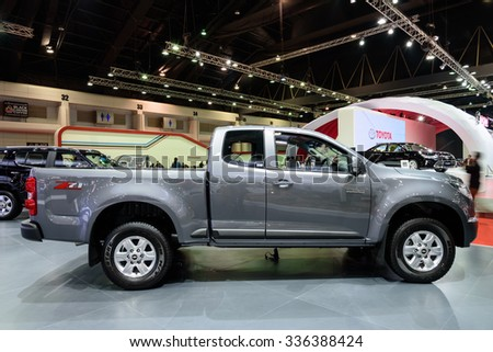 NONTHABURI, THAILAND - MARCH 24: The Chevrolet Colorado is on display at the 36th Bangkok International Motor Show 2015 on March 24, 2015 in Nonthaburi, Thailand.