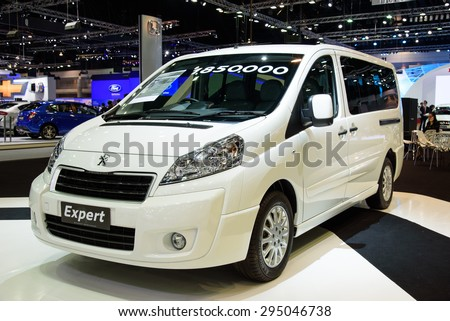 NONTHABURI, THAILAND - NOVEMBER 28: The Peugeot Expert is on display at the 31st Thailand International Motor Expo 2014 on November 28, 2014 in Nonthaburi, Thailand.