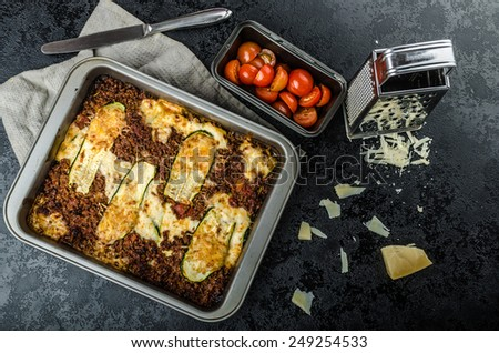 Noodle-Free Zucchini Ribbon Lasagna, with parmesan
