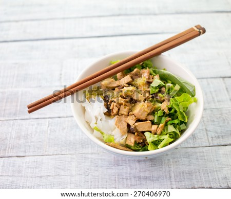 noodle of traditional thai food - stock photo