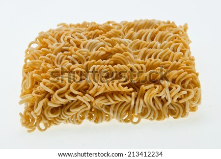 Noodle on white background