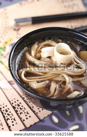 noodle soup asian with chicken - stock photo