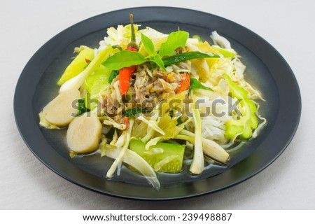 noodle with  thai food.