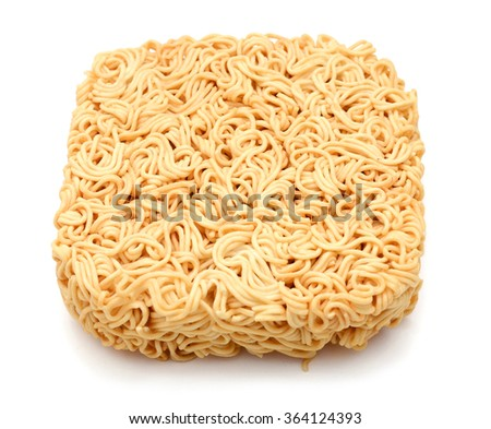 Noodles isolated on white background