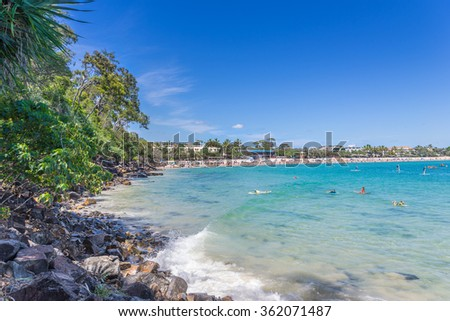 Noosa Heads main beach in Queensland