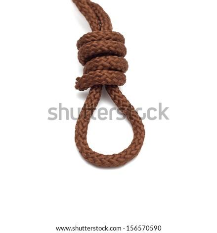 noose isolated on white - stock photo