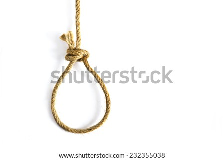 noose on white background - stock photo
