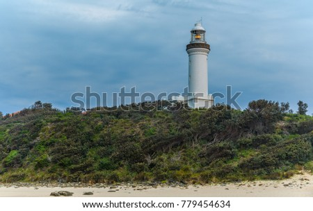 Norah Head Lighthouse located at Norah Head, a headland on the Central Coast, New South Wales, Australia. Taken on 16 December 2017. Norah Head Light is an active lighthouse.
