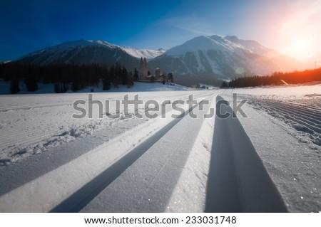 Nordic ski - stock photo