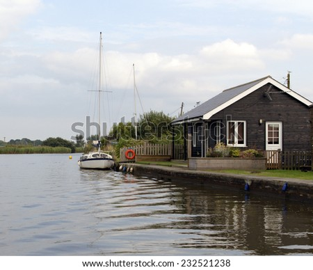 Norfolk broads uk - stock photo