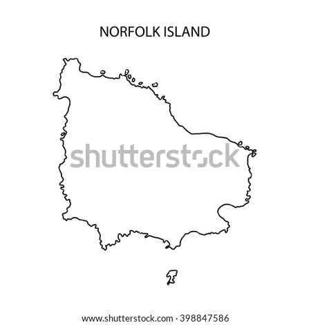 Norfolk Island Map Outline Stock Illustration 398847586 Shutterstock