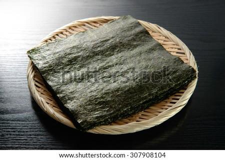 nori japanese food - stock photo