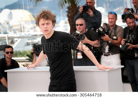 Norman THAVAUD attend the 'Mon Roi' photocall during the 68th annual Cannes Film Festival on May 17, 2015 in Cannes, France. - stock photo