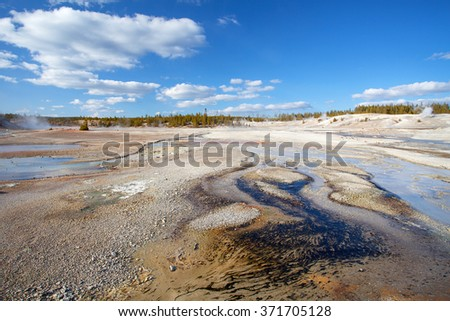 Norris Geyser Basin, Yellowstone National Park, Wyoming, USA