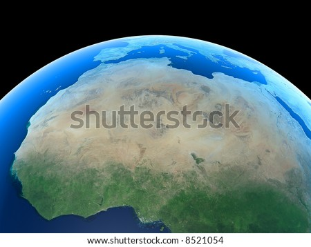 North Africa as seen from Space