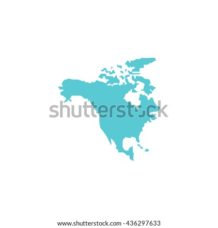 North America Map Color Simple Flat Stock Illustration 436297633 ...