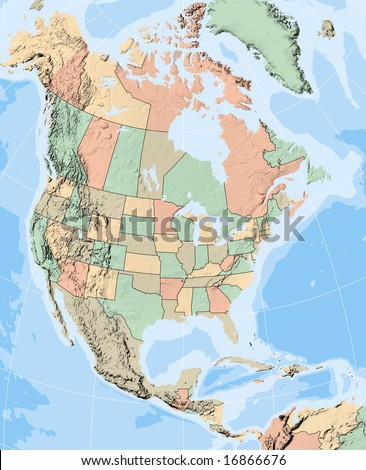 Us Canada Map Stock Images RoyaltyFree Images Vectors - Blank map of us states and canadian provinces