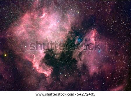 North America nebula (NGC 7000) - stock photo
