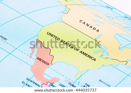 North America Political Map With Labeling