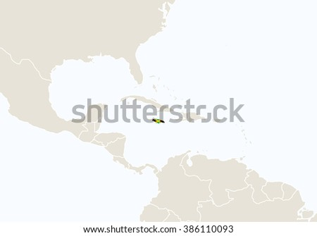 North america highlighted jamaica map raster stock illustration north america with highlighted jamaica map raster copy gumiabroncs Image collections