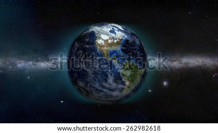 North American Day (Elements of this image furnished by NASA) - stock photo