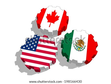North American Free Trade Agreement Nafta Stock Illustration