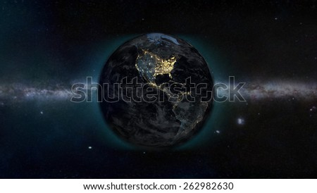 North American Galaxy (Elements of this image furnished by NASA) - stock photo