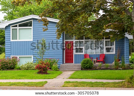 North American home from the seventies or eighties. - stock photo