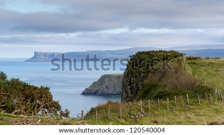North Antrim Coast, County Antrim, Northern Ireland - stock photo