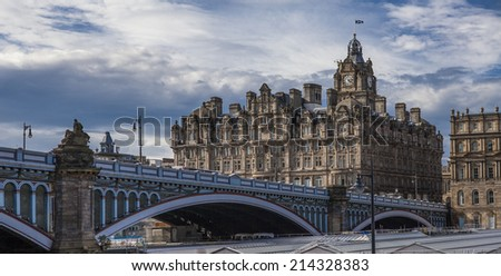North Bridge is a road bridge and street in Edinburgh linking the High Street with Princes Street, and the New Town with the Old.