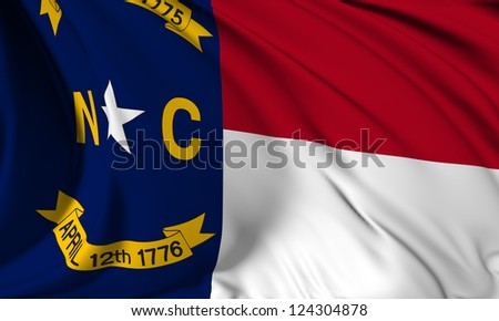 North Carolina flag - USA state flags collection no_3 - stock photo