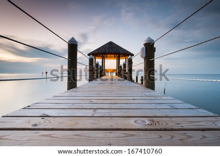 North Carolina Hatteras Island Outer Banks Gazebo - stock photo