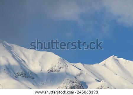 North Chain mountain range of Alps in Innsbruck, Austria - stock photo