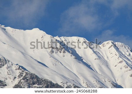North Chain mountain range of Alps in Innsbruck, Austria - stock photo