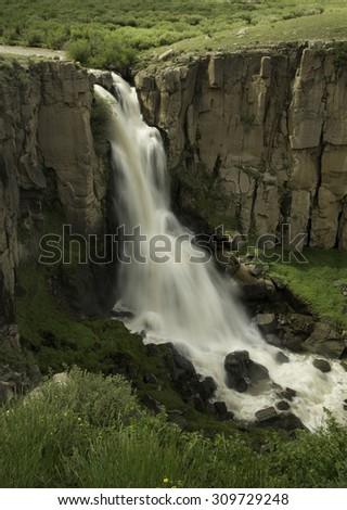 North Clear Creek Falls, Colorado - stock photo