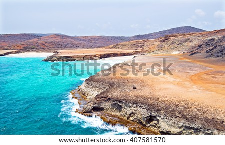 North coast from Aruba in the Caribbean