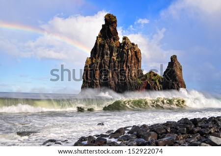North coast of Madeira.  - stock photo