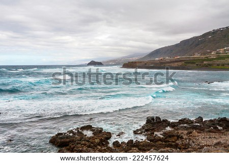 North coast of Tenerife near Los Silos town on the Canary Islands. Spain