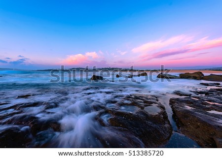 North Curl Curl Beach at sunrise, Sydney Australia