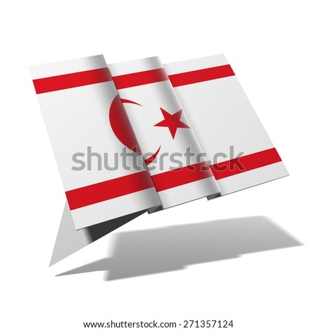 North Cyprus flag 3D banner - stock photo