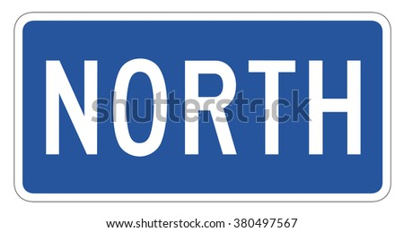 North directional Sign isolated on a white background