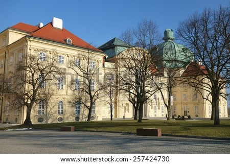 North facade of the imperial wing, Stift Klosterneuburg, Klosterneuburg, Lower Austria, Austria, Europe