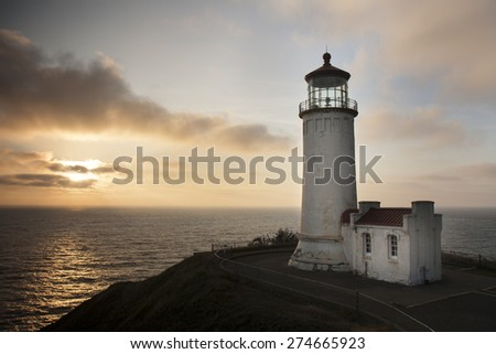 North Head Lighthouse at Cape Disappointment at Washington State