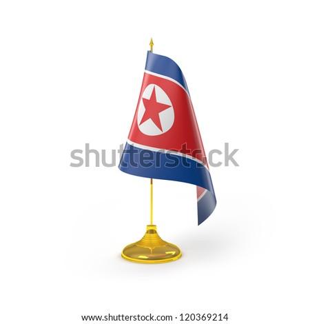 North Korea Flag Detail Render - stock photo
