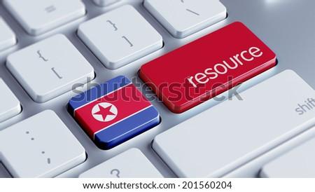 North Korea High Resolution Resource Concept - stock photo